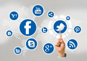 social media icons pointing finger 300x210 Which Social Media is Best for Your Business?